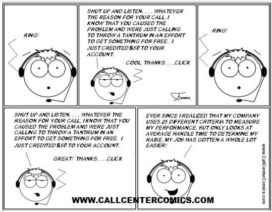 call-center-cartoon-100-aht aht cartoon
