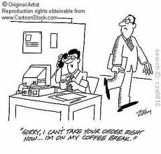 customer service cartoon